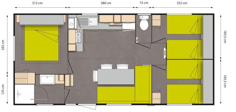 Mobilhome 33M² (3 Chambres)