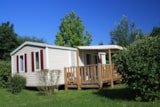 Rental - Mobil home Super Mercure - 27 m² - terrace (2 bedrooms) - Camping Les Portes Du Beaujolais