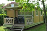 Rental - Chalet Club 5 - 27 M² - Terrace (2 Bedrooms) - Camping Les Portes Du Beaujolais