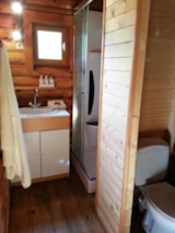 Rental - Chalet Canadian - 35 m² - terrace (2 bedrooms) - Camping Les Portes Du Beaujolais