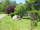 Pitch - Pitch tent package - car, tent without electricity - Camping Les Portes Du Beaujolais