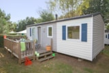 Rental - Mobile home Confort - 3 bedrooms + Outdoor terrace (> 3 years) - Sea Green - Camping Le Paradis