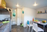 Rental - Mobile home Confort - 2 bedrooms + Outdoor wood terrace (> 3 years) - Sea Green - Camping Le Paradis