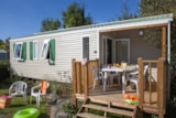 Rental - Cottage Privilège - 3 Bedrooms + Covered terrace (< 3 years) - Sea Green - Camping Le Paradis