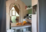 Rental - Lodge Coco Sweet 2 bedrooms - Sea Green - Camping Le Paradis