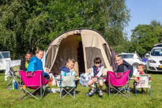 Pitch tent , caravan or camping-car