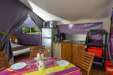 Rental - Freeflower 37m² (2 bedrooms) - sheltered terrace 13m² - Flower Camping le Kergariou