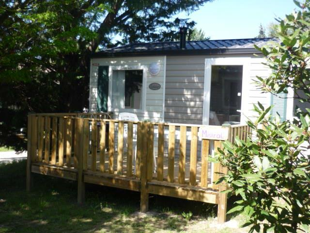 Locatifs - Mobil-Home 4 Pers + Climatisation Dimanche / Dimanche - Camping L'Olivier
