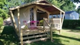 Rental - Tent Lodge Freeflower Without Toilet Block 22M² (2 Bedrooms) + Sheltered Terrace 8M² (Sunday) - Flower Camping de Kerleyou