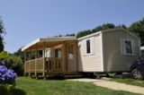 Rental - Mobile Home Selenia Premium 34M² (2 Bedrooms) + Sheltered Terrace 13.5M²  (Saturday ) - Flower Camping de Kerleyou