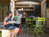 Rental - Lodge Maori 2 bedrooms - Sea Green - Camping Emeraude