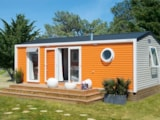 Rental - Cottage Privilège 2 Bedrooms - Sea Green - Camping ERREKA