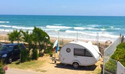Package first row from the sea: Pitch +  tent , caravan or camping-car + electricity + water and drainage point