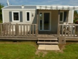 Rental - Mobil Home 28M² 2 Bedrooms + Dishwasher - Camping la Roseraie d'Omaha