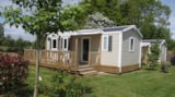 Rental - Mobil home 34m² 3 bedrooms + Dishwasher - Camping la Roseraie d'Omaha