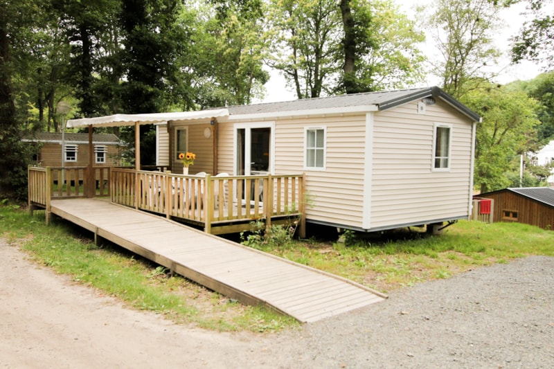 Mobil-home Confort+ 27m² 2 bedrooms + terrace Wheelchair friendly
