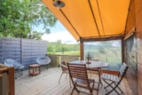 Rental - Freeflower Confort+ 37 M² (2 Bedrooms) - Sheltered Terrace 13  M² View Of The Vineyards - Flower Camping La Rouillère