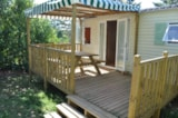Rental - Mobile-home  Beynac25.8 m², 8.60x3 sheltered terrace - Camping Puynadal Brantôme