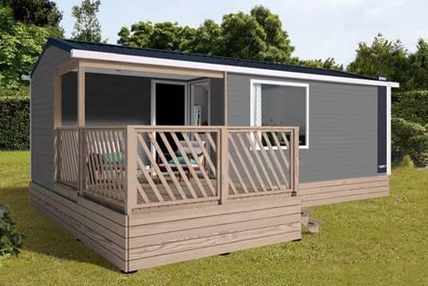 Mobilhome Les Alizés : 24.20 m² + 7 m² partly covered terrace (2 Rooms)