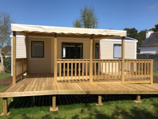 Mobile-home 31m² PMR 2 bedrooms - sheltered terrace (adapted to the people with reduced mobility)