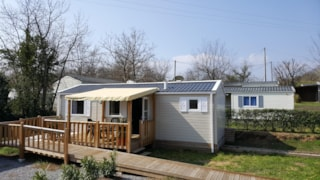 Mobile-home adapted to the people with reduced mobility - 2 bedrooms - air-conditioning