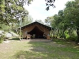 Rental - Lodge Safari 2 Bedrooms 30M² - Camping LE MARTINET ROUGE