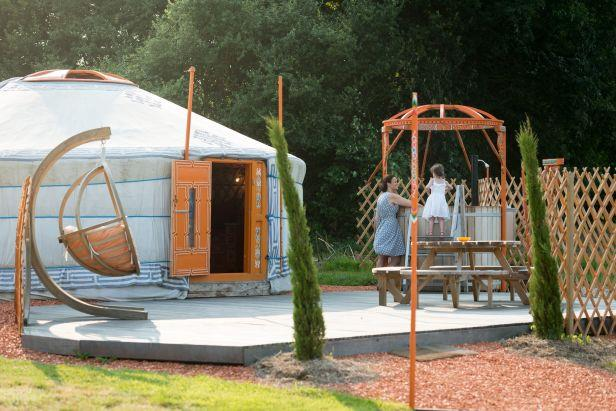 Yurt Tent met Spa