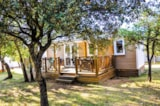 Rental - Mobile Home 35m² CONFORT D (3 bedrooms + covered Terrace) - Camping L'Ombrage