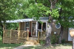 Huuraccommodatie - Mobile Home 30M² Premium Aircon S - 2 Bedrooms - Covered Terrace - Camping L'Ombrage