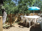 Huuraccommodaties - Mobile Home 2 bedrooms CLIM PREMIUM D - 30m² + Terrace - Camping L' Ombrage