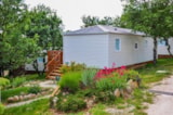 Rental - Mobile home 40m² 2SDB D (3 chambres + 2 bathrooms + covered Terrace) - Camping L'Ombrage