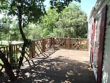 Rental - Mobile Home 40m² 2SDB AIRCON (3 bedrooms + 2 bathrooms + Covered Terrace) - Camping L'Ombrage