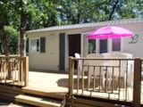 Huuraccommodaties - Mobilhome 3 chambres CLIM PREMIUM D - 35m² + Terrasse - Camping L' Ombrage
