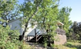 Rental - Mobile home 36m² RESIDENTIEL AIRCON - 2 chambres + Terrasse - Camping L'Ombrage