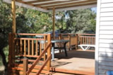 Rental - Mobile Home 27m² PREMIUM D - 2 bedrooms - Terrace - Camping L'Ombrage