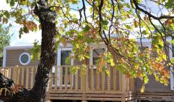 Huuraccommodaties - Mobile home 35m² PREMIUM AIRCON S (3 bedrooms - Covered Terrace) - Camping L'Ombrage