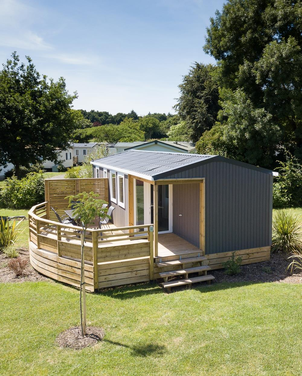 Location - Mobil-Home 3 Chambres - Camping Domaine du Logis