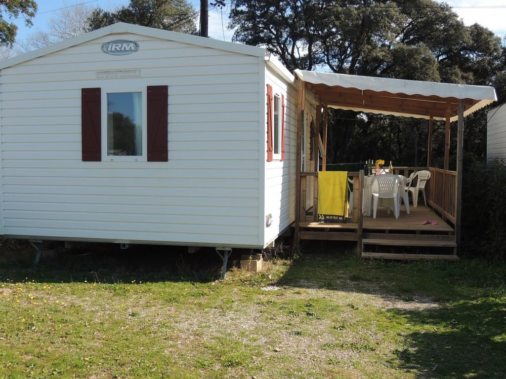 Location - Mobil-Home Confort Holiday 25M² (2 Chambres) Avec Terrasse Couverte 15M² Tv Incluse - Flower Camping Domaine de Gajan