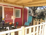Rental - Mobile Home Confort + Life Wheelchair Access 32M² + Tv  (2 Bedrooms) - Covered Terrace 15M² - Flower Camping Domaine de Gajan