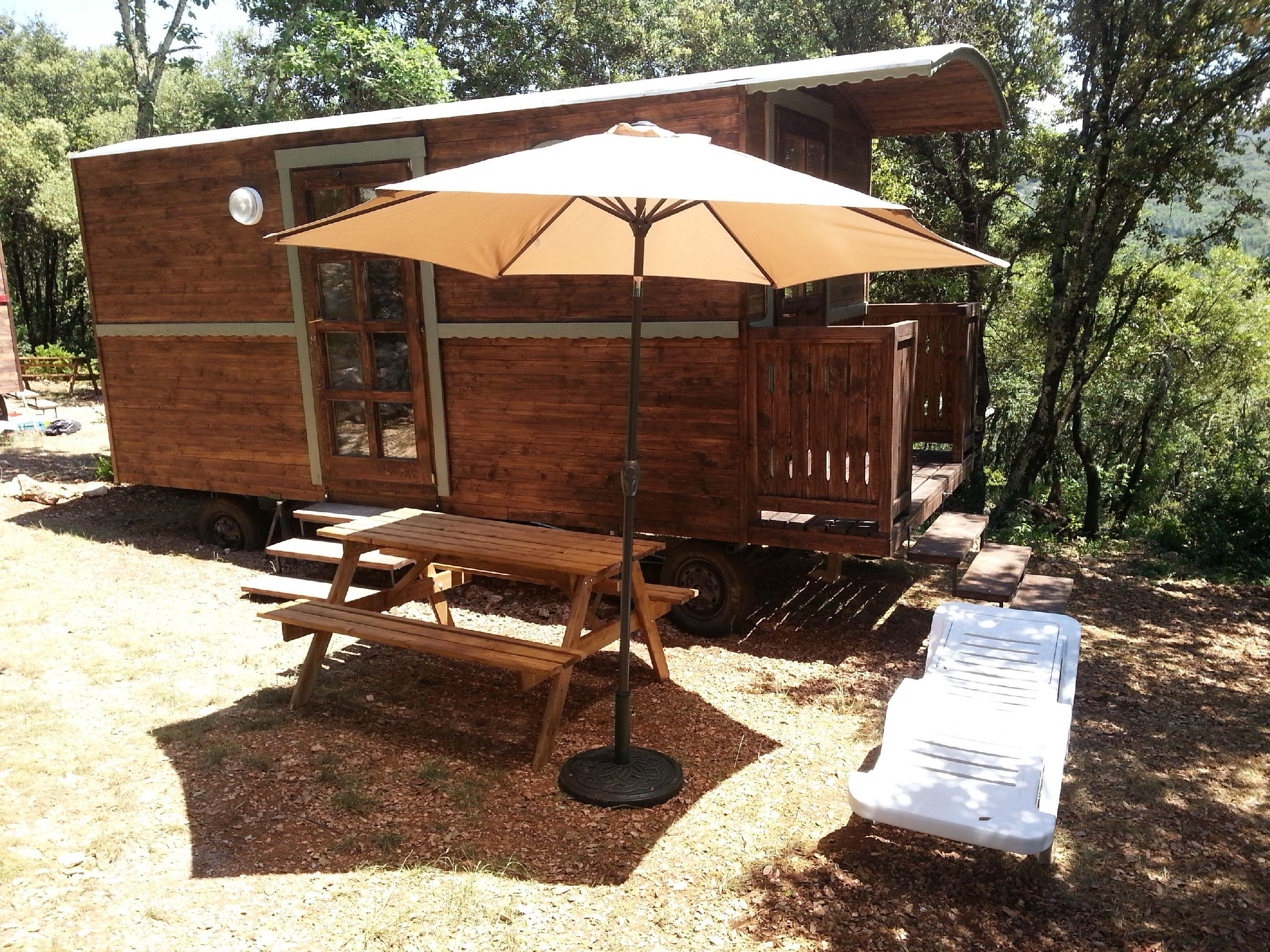Location - Roulotte Camping Sans Sanitaires - Camping Ibie
