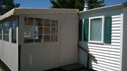2-bedroom mobile home 4-person, double slope roof, 18 m², ground-level terrace