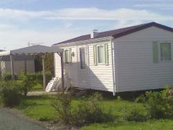 2-bedroom mobile home 6-person, flat roof, 26 m² with gazebo