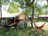 Rental - Tente Safari 37M² (2 Bedrooms) - Sheltered Terrace 13M² Without Toilet Blocks - Camping Lac de Thoux St-Cricq