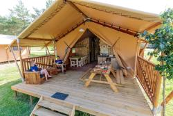Huuraccommodatie - Tent Lodge - Camping Lac de Thoux St-Cricq