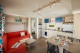 Rental - Mobil home grand confort (35m²) with covered terrace, 3 bedrooms - Camping le Grand Cerf