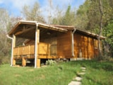 Rental - Wooden Chalet  Confort + 35 M² (2 Bedrooms) + Sheltered Terrace - Camping du Lac
