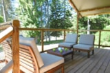Rental - Wooden cabin on piles - Camping le Vianon