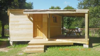Wooden Hut  Confort  25 M² (2 Bedrooms) + Sheltered Terrace + Tv - Without Toilet Blocks