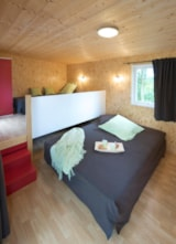 Rental - CONFORT Chalet 18m² (1 bedroom) + covered terrace - Flower Camping du Lac de La Chausselière