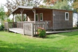 Rental - CONFORT+ Chalet 24m² Wheelchair friendly (1 bedroom) + covered terrace - Flower Camping du Lac de La Chausselière